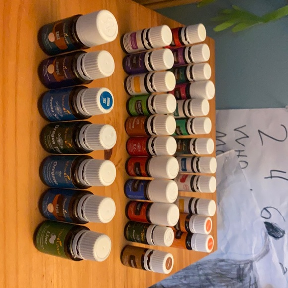 Huge lot of different Young Living oils plus case